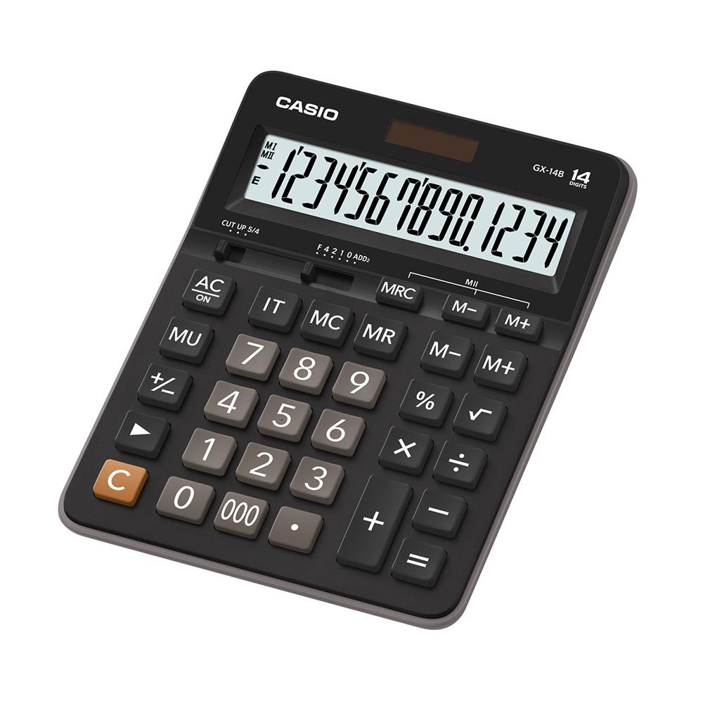 Calculadora Casio de mesa com visor grande 14 dígitos GX-14B - CASIO