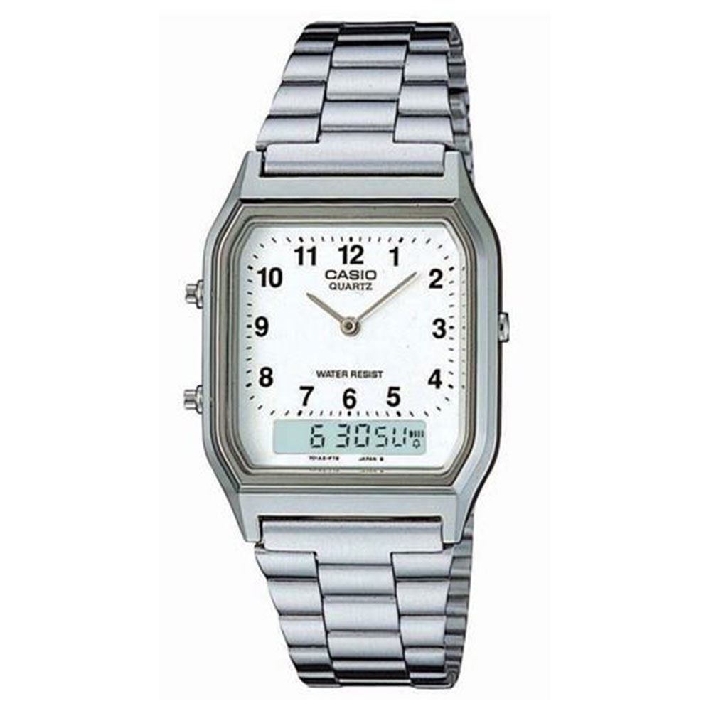 Relógio Masculino Anadigi Casio AQ-230A-7BMQ - Prateado