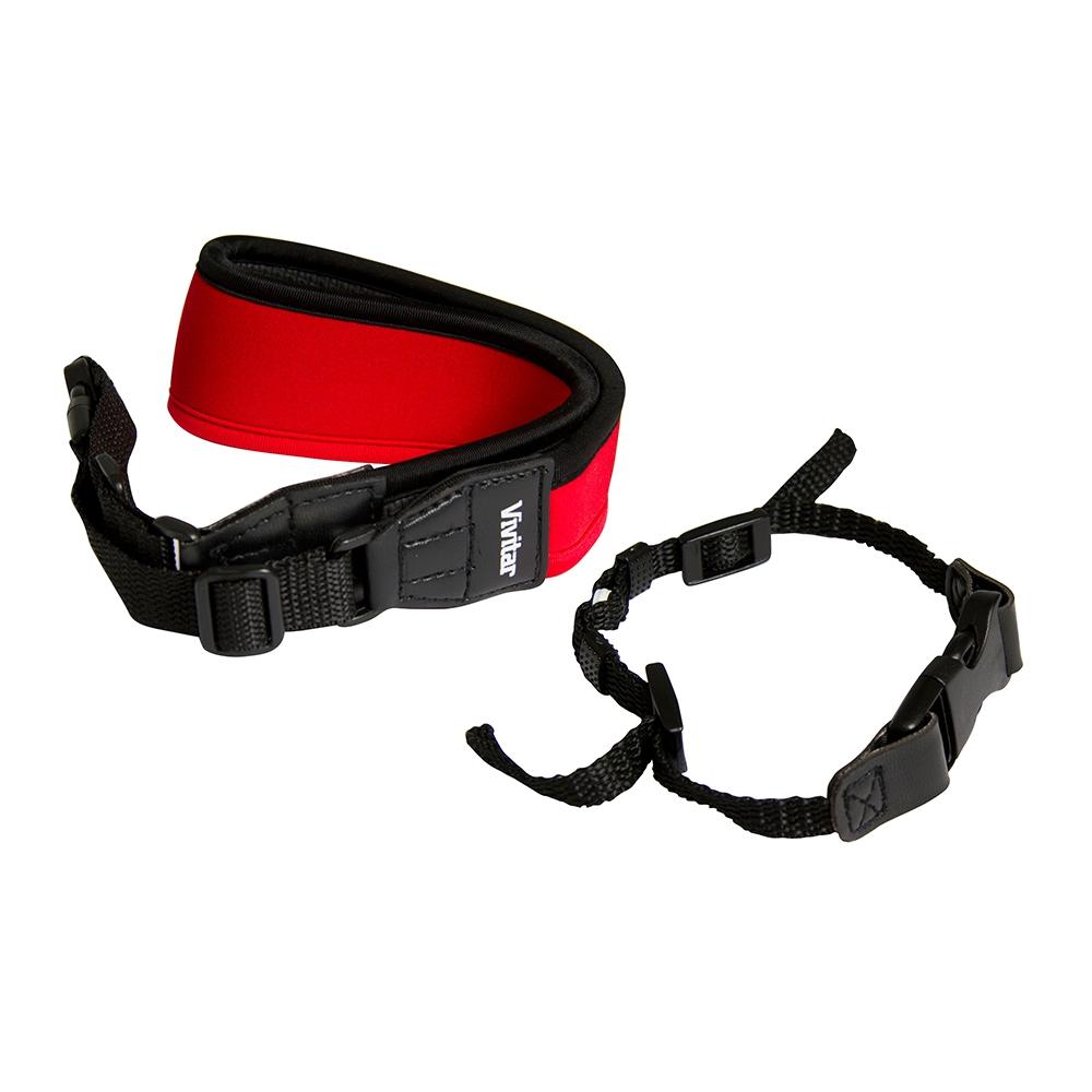 Alça de pescoço para câmera fotográfica DSLR Vivitar - Vermelha
