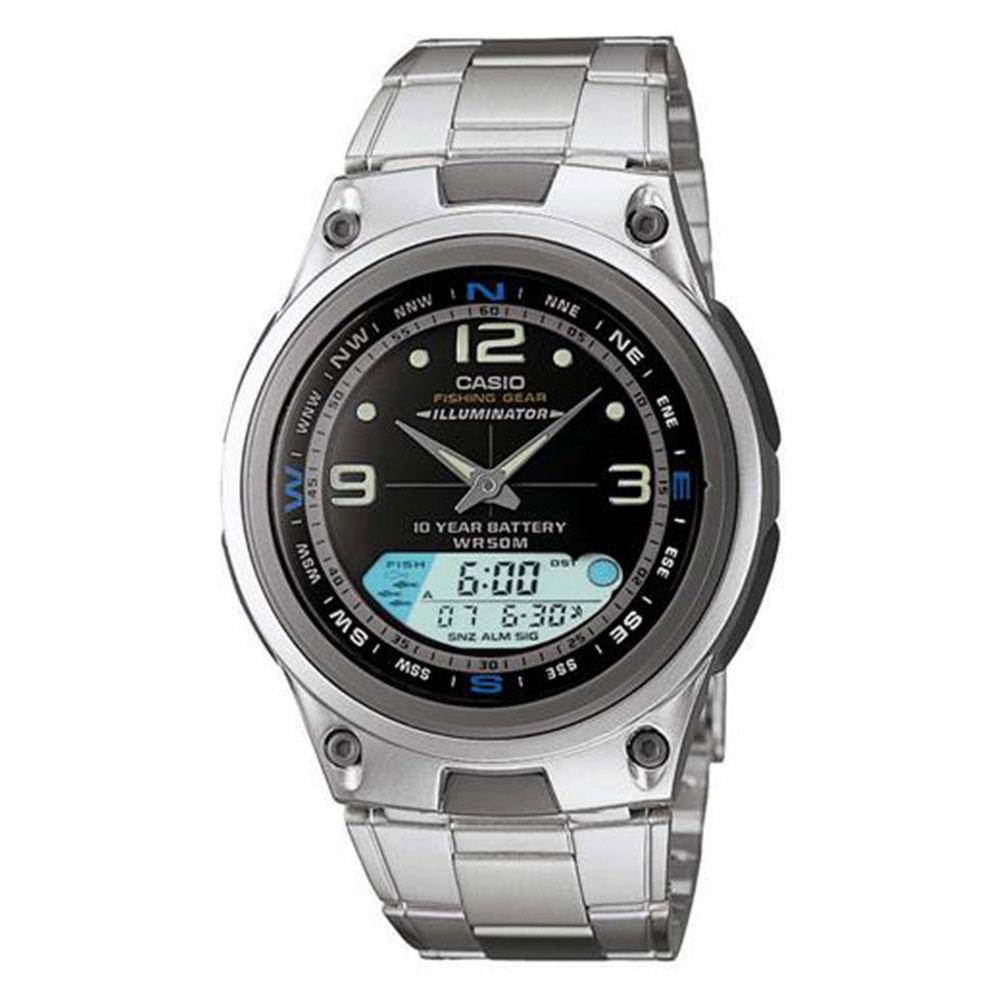 Relógio Masculino Anadigi Casio AW-82D-1AVDF - Prata