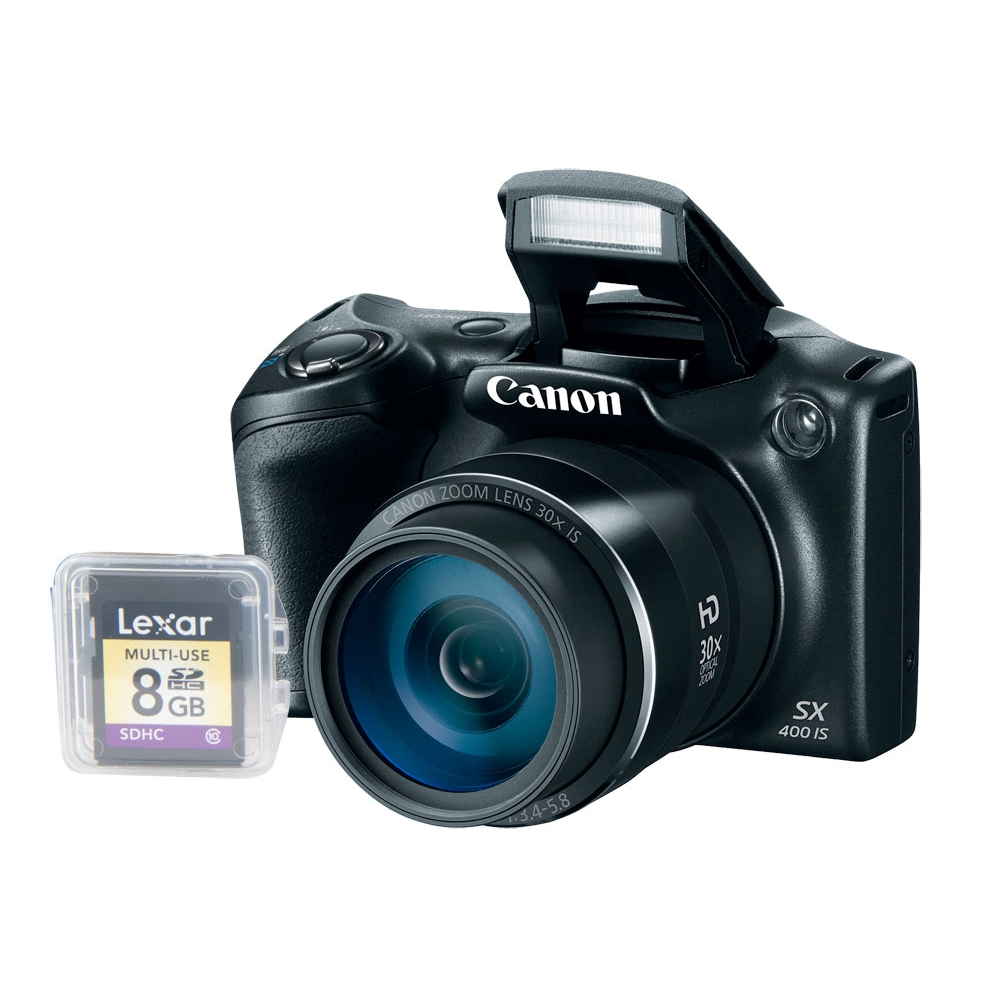 Câmera digital 16 MP, LCD 3.0´´, Zoom Óptico 30x e vídeo em HD  - Canon