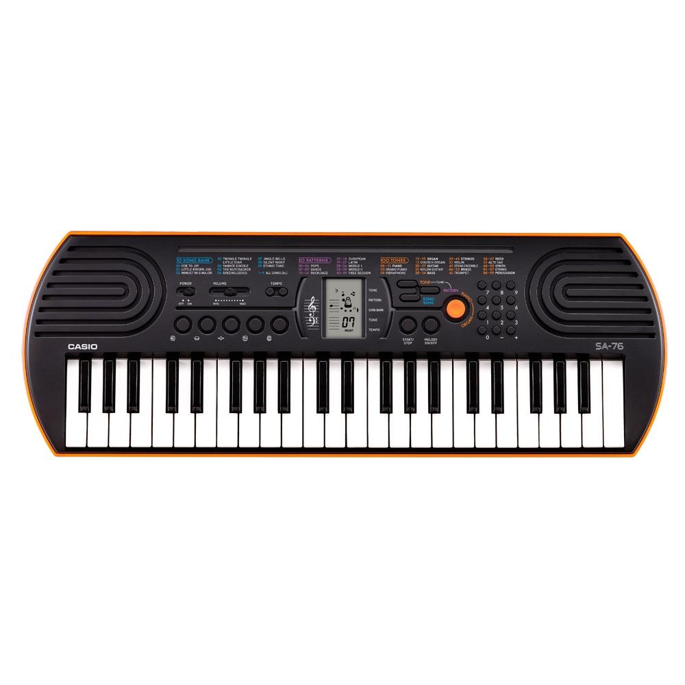 Mini teclado 44 teclas mini, 100 timbres e 50 ritmos - CASIO