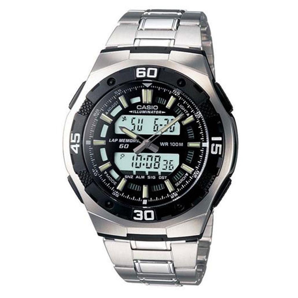 Relógio Masculino Anadigi Casio AQ-164WD-1AVDF - Prata
