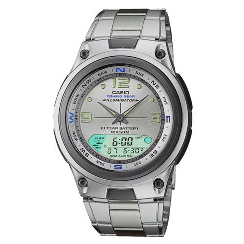 Relógio Masculino Anadigi Casio AW82D7AVDF - Prata
