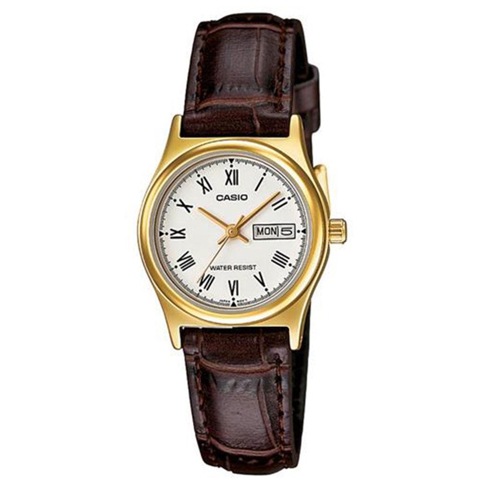 Relógio Feminino Analógico Casio LTP-V006GL-7BUDF - Marrom
