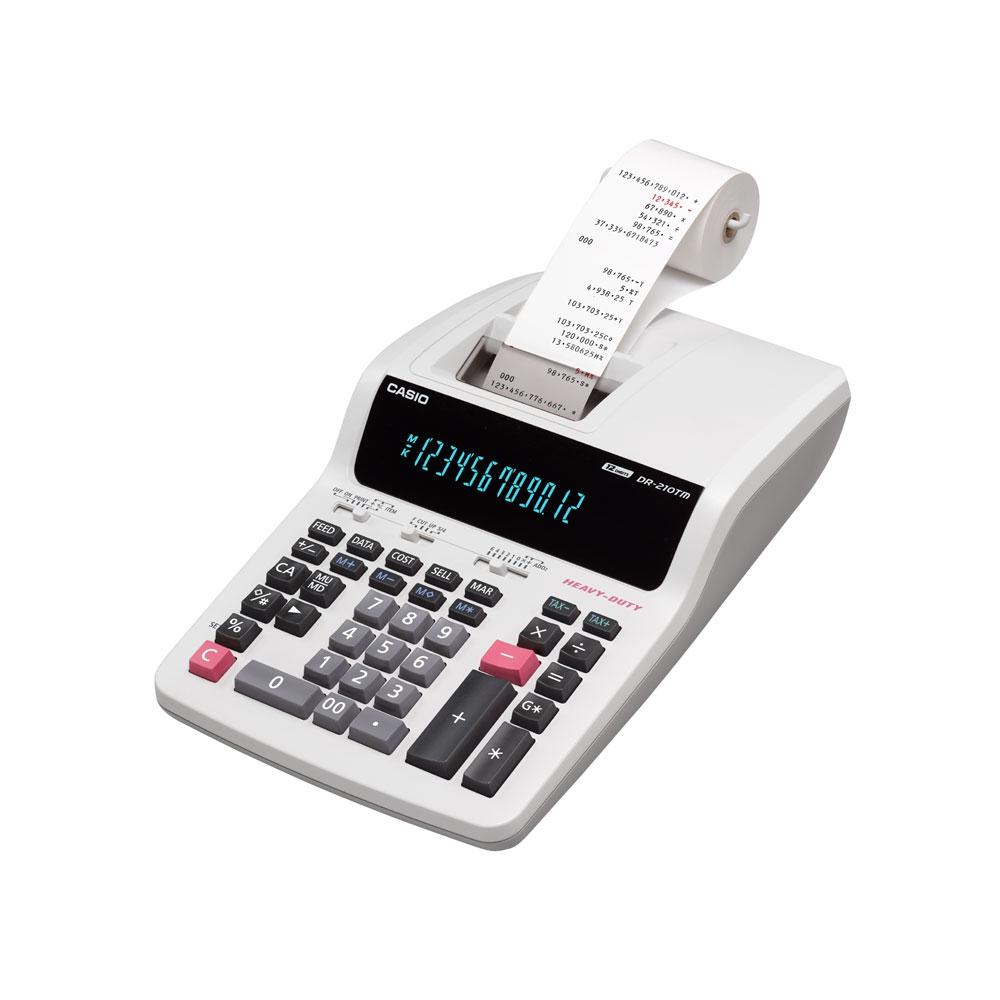 Calculadora  de Mesa Casio com Impressora  220V - DR210TM-WEBE