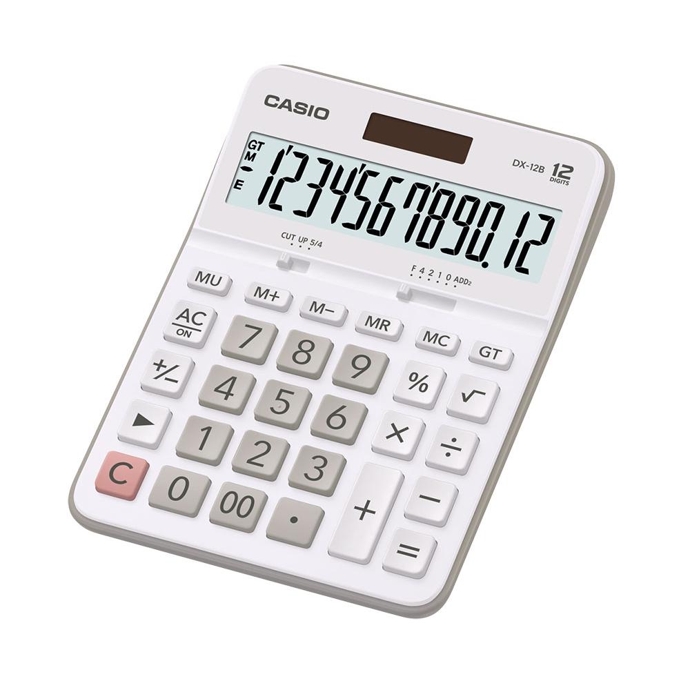Calculadora de Mesa Casio - Branca - DX-12B