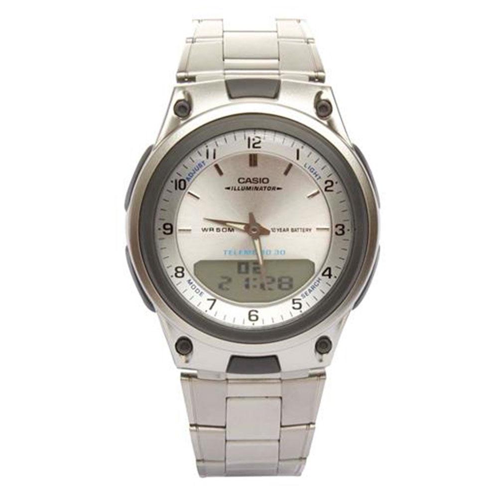 Relógio Masculino Anadigi Casio Standard AW-80D-7A - Prata