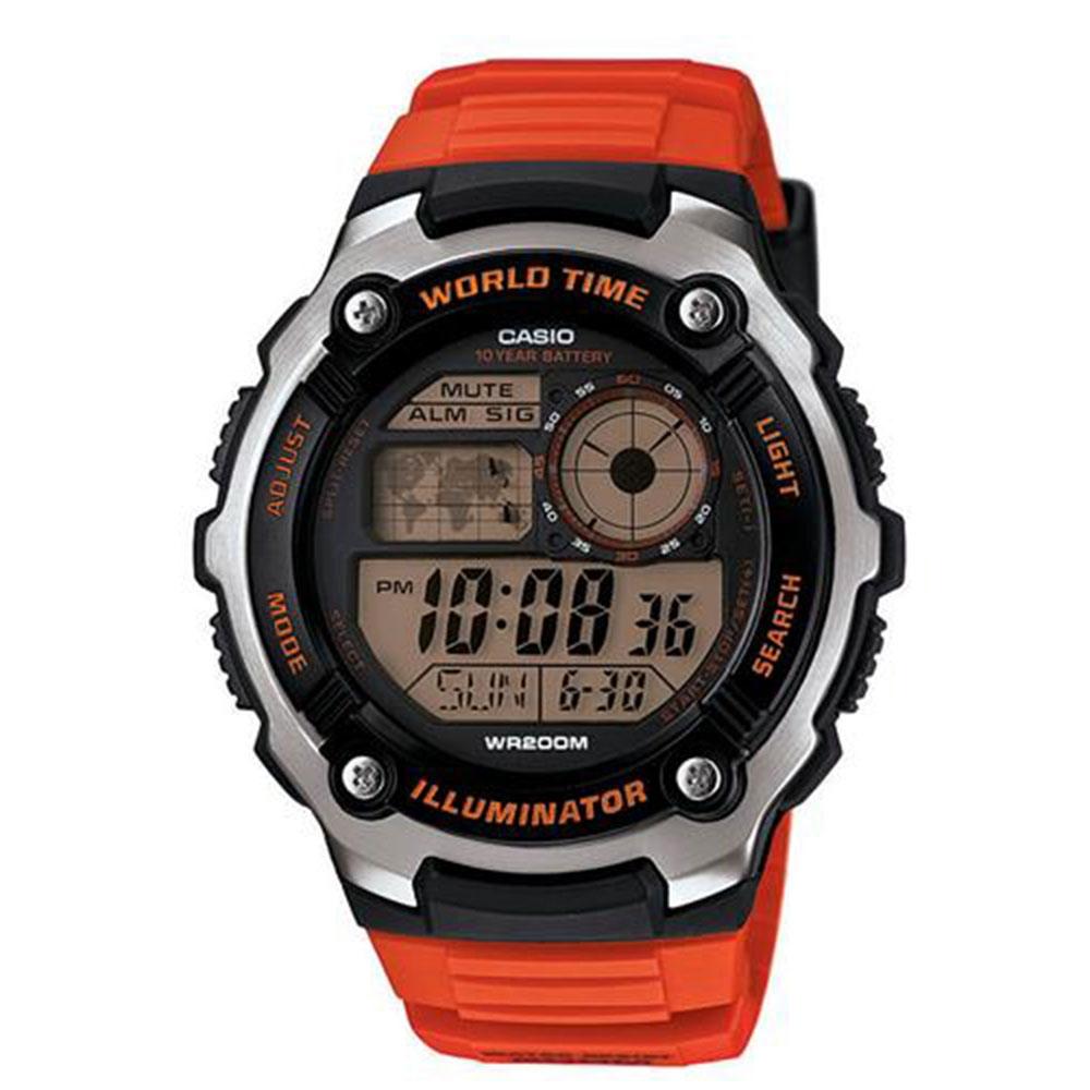 Relógio Masculino Digital Casio AE-2100W-4AVDF - Laranja