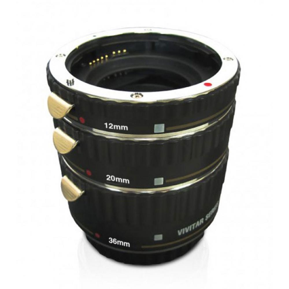 Três tubos de extensão para câmera DSLR Nikon - VIVITAR