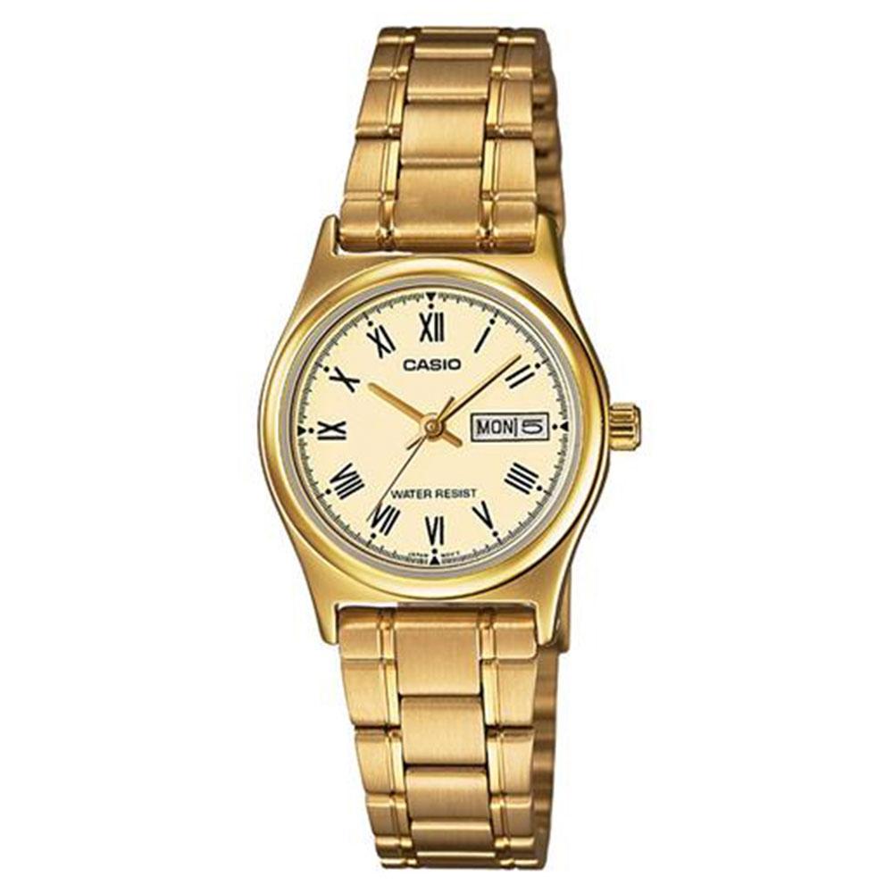 Relógio Feminino Analógico Casio LTP-V006G-9BUDF - Dourado