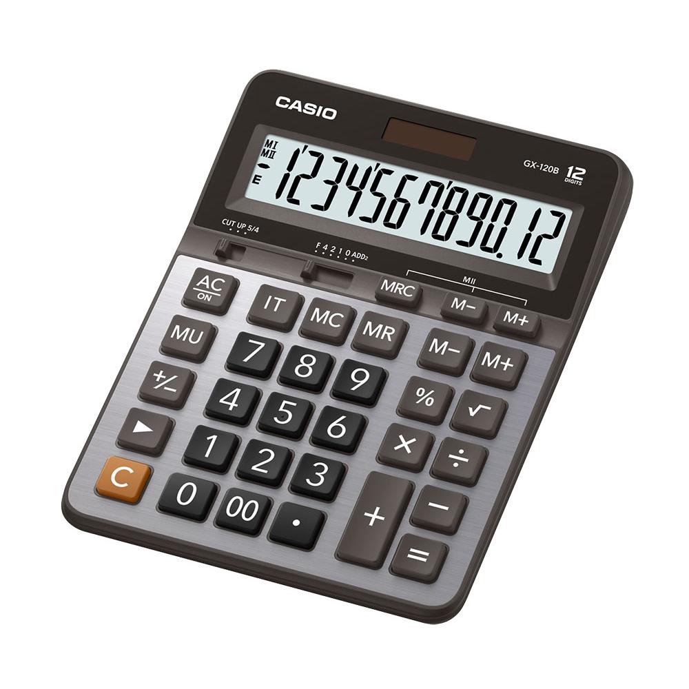 Calculadora de mesa com visor grande 12 dígitos e acabamento metalizado  - CASIO