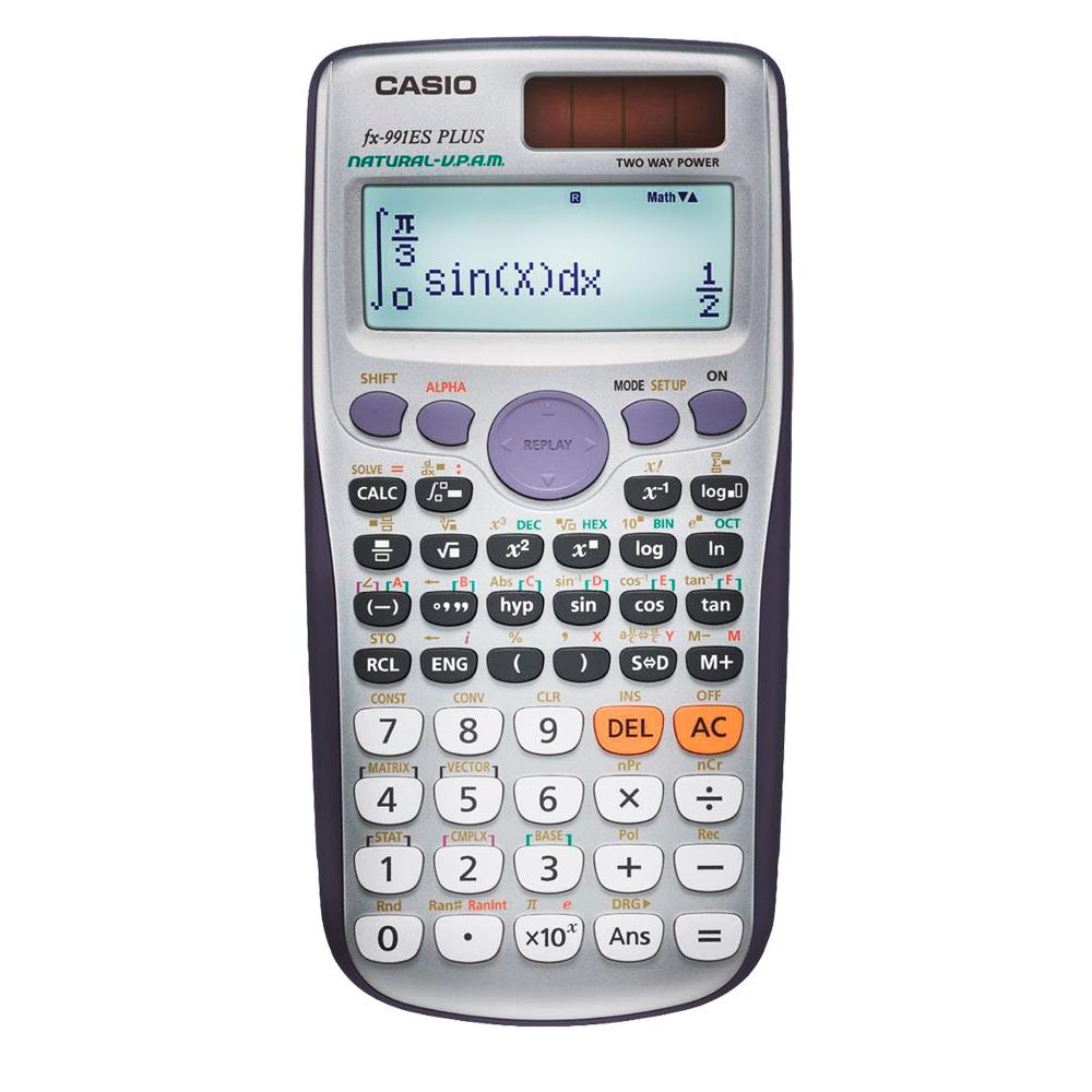Calculadora Científica Casio, com 417 funções, Visor 4 Linhas - FX-991ESPLUS