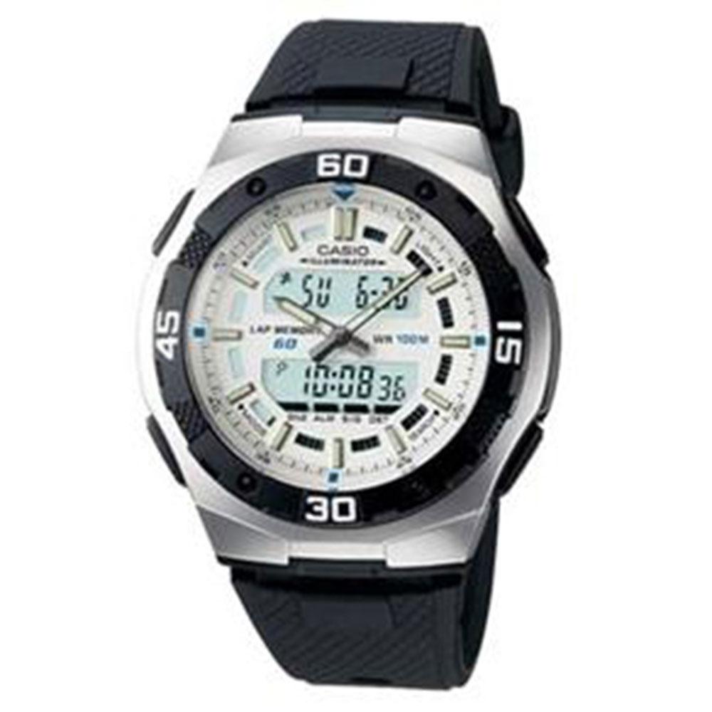 Relógio Masculino Anadigi Casio AQ-164W-7AVD - Preto