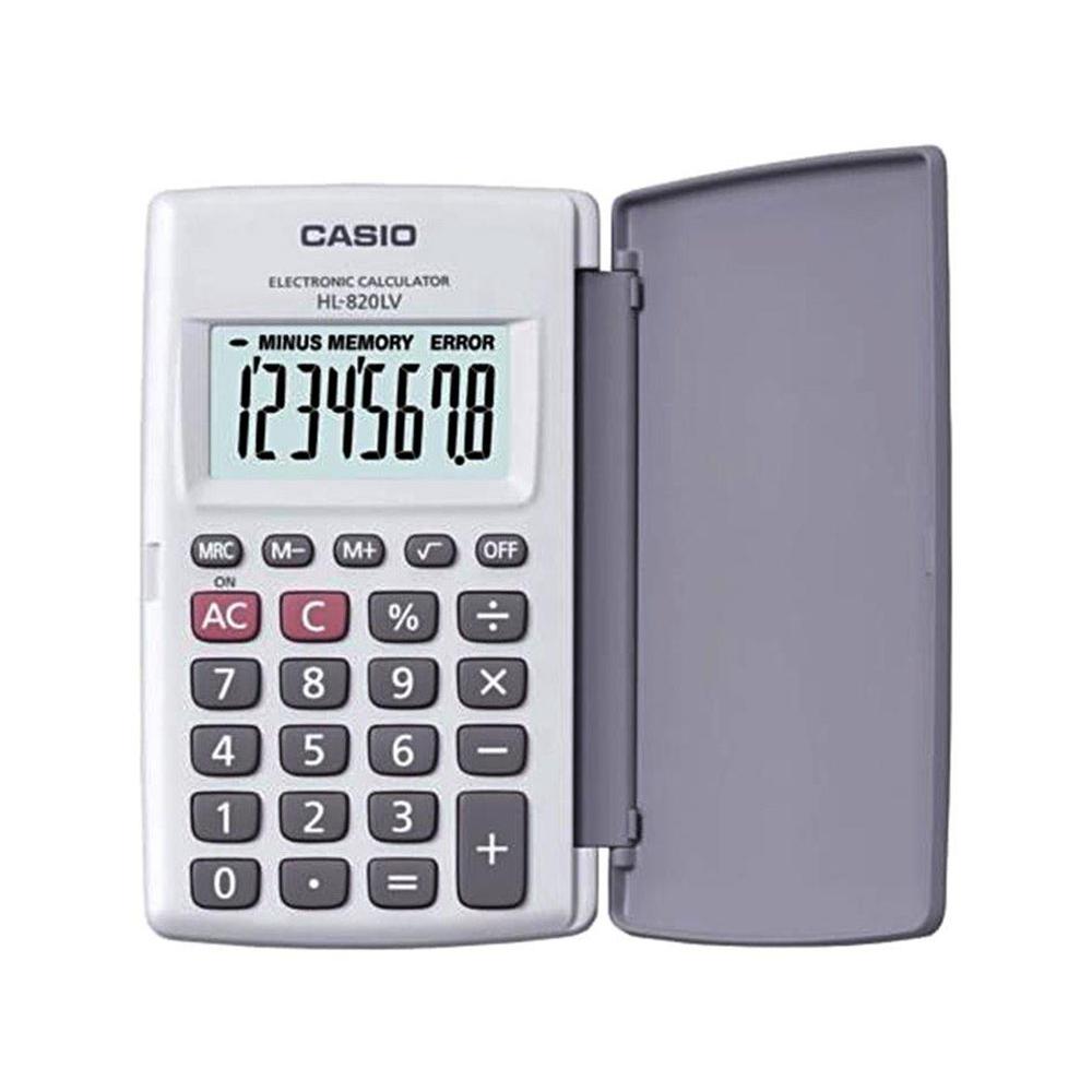 Calculadora Casio de bolso, visor XL, 8 dígitos e deslig. Automático HL-820LV-WE - CASIO