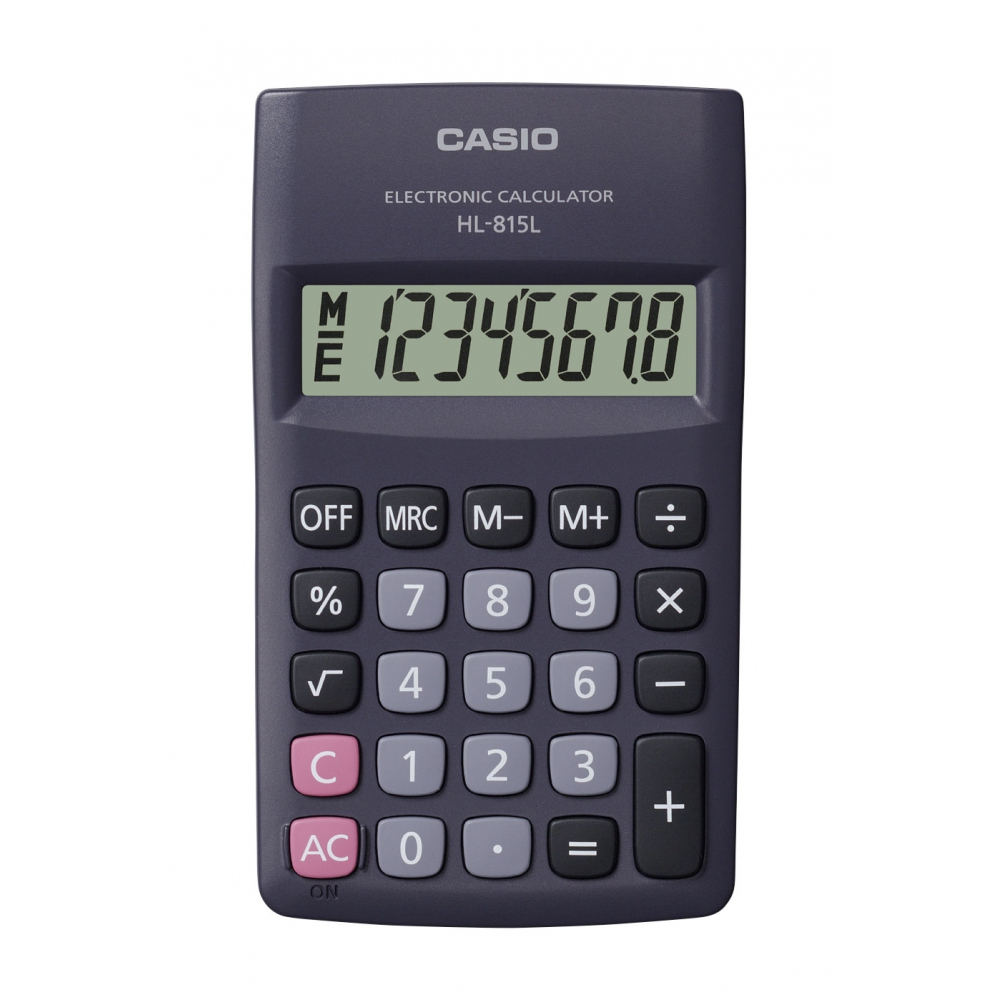 Calculadora Casio de bolso vertical  c/ visor 8 dígitos HL-815L-BK - CASIO
