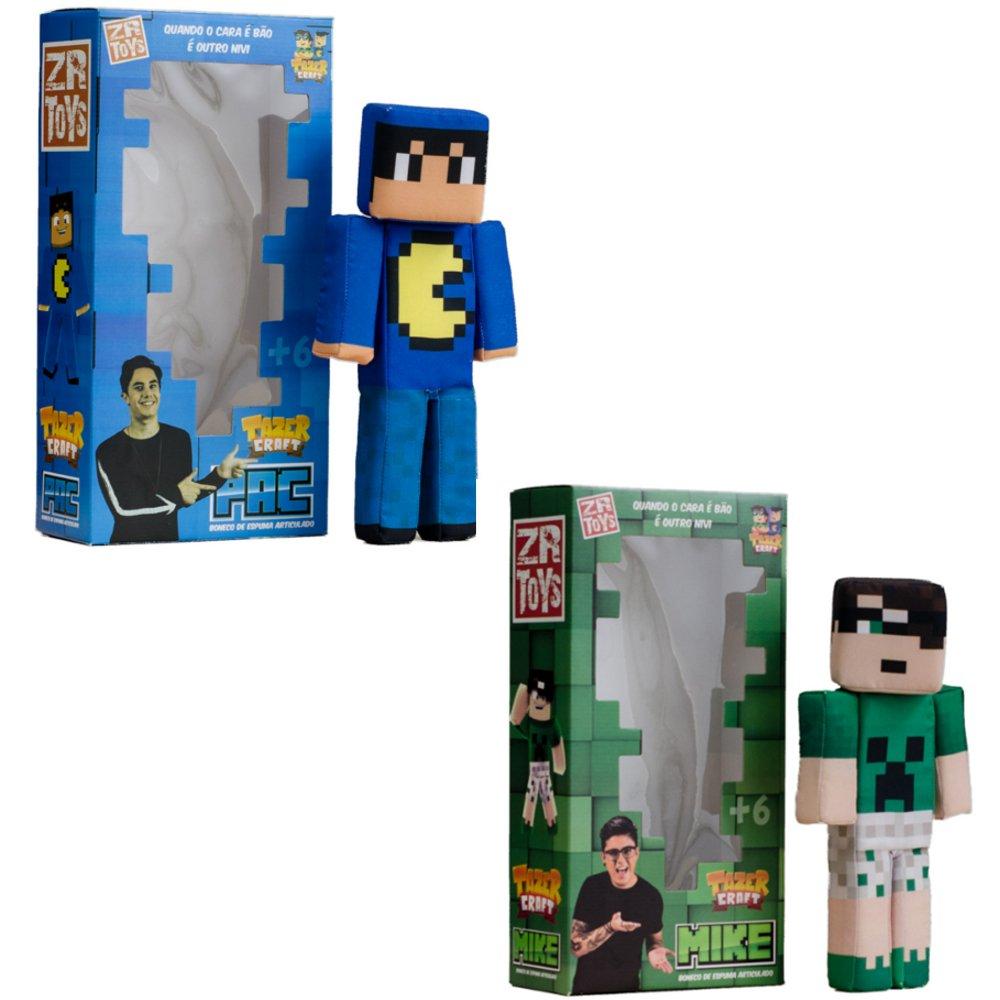 Boneco Tazecraft Pac + Boneco Tazecraft Mike ZR Toys