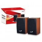 Caixa de Som 2.0 CH Genius SP-HF160 com 4 Watts RMS, USB - Madeira
