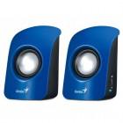 Caixa De Som 2.0 CH Genius SP-U115  Com 1,5 Watts RMS - Azul