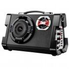 Caixa de Som Multilaser, 80W, Mp3, rádio FM, Entradas USB, auxiliar e cartão, com microfone