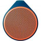 Caixa de Som Speaker Logitech X100 com 1,5 Watts RMS, Laranja e Azul - Bluetooth