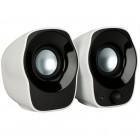 Caixa de Som Speaker Logitech Z120 com 1.2 Watts RMS, Branco e Preto