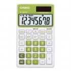 Calculadora Casio portátil color Verde, visor XL, 8 díg e alimentação dupla SL-300NC - CASIO