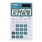 Calculadora Casio portátil color Azul Claro, visor XL, 8 díg e alimentação dupla SL-300NC - CASIO
