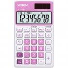 Calculadora Casio portátil color Rosa, visor XL, 8 díg e alimentação dupla SL-300NC - CASIO