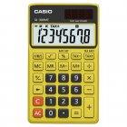 Calculadora Casio portátil color Amarelo, visor XL, 8 díg e alimentação dupla SL-300NC - CASIO