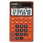Calculadora Casio portátil color Preto e Vermelho, visor XL, 8 díg e alimentação dupla SL-300NC