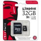 Cartão De Memória Classe 10 Kingston  Micro SDHC Industrial 32GB Com Adaptador SD - SDCIT/32GB