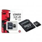 Cartão de Memória Kingston Classe 10 Micro SDHC 32GB com Adaptador SD SDC10G2-32GB