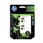 Cartucho de Tinta HP 46 Pacote Duplo Preto - M0H61AL