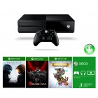 Console Xbox One 500GB + Live Card Gold 3 Mêses + Jogos Halo 5, Gear Of War Ultimate, Rare Replay