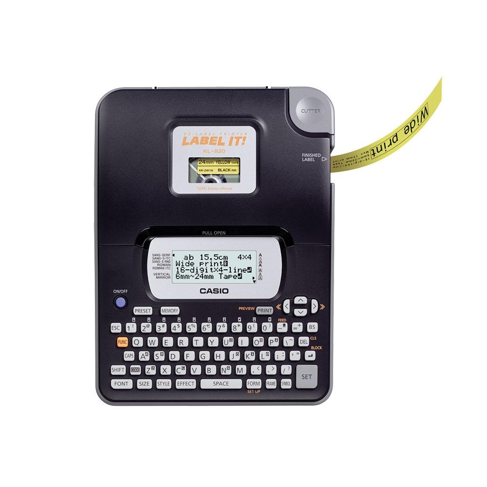 Etiquetadora Casio LCD grande 16 dígitos e 4 linhas KL-820 - CASIO