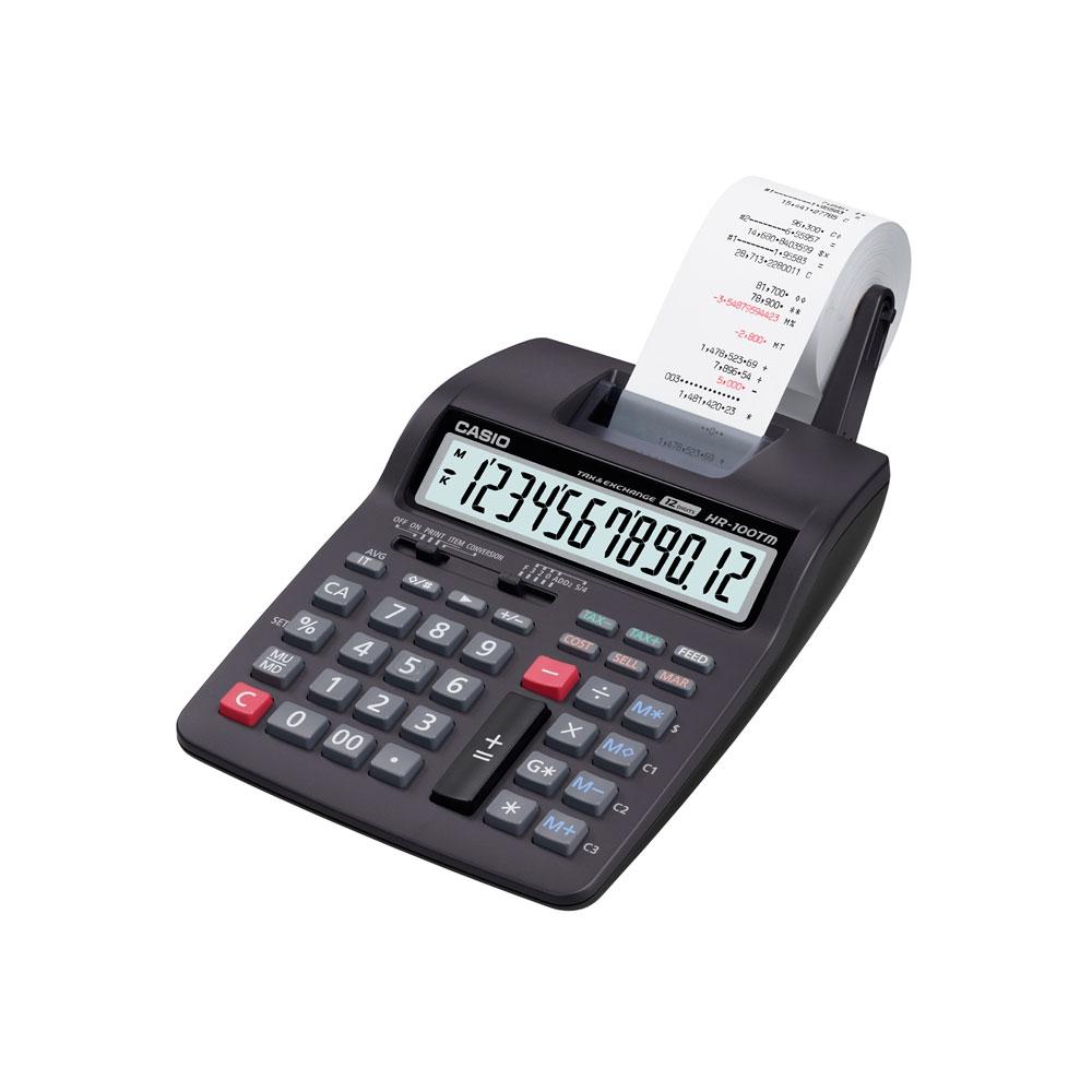 Calculadora Casio c/ impressora, 12 dígitos HR-100TM  - CASIO