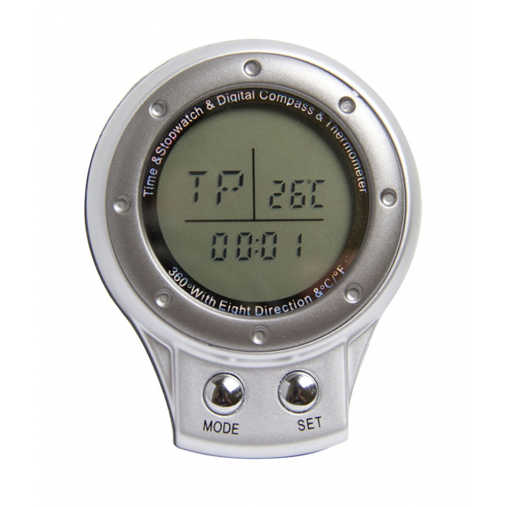 Bússola Digital 4 em 1: + Relógio, Cronômetro e Termômetro - VIVITAR
