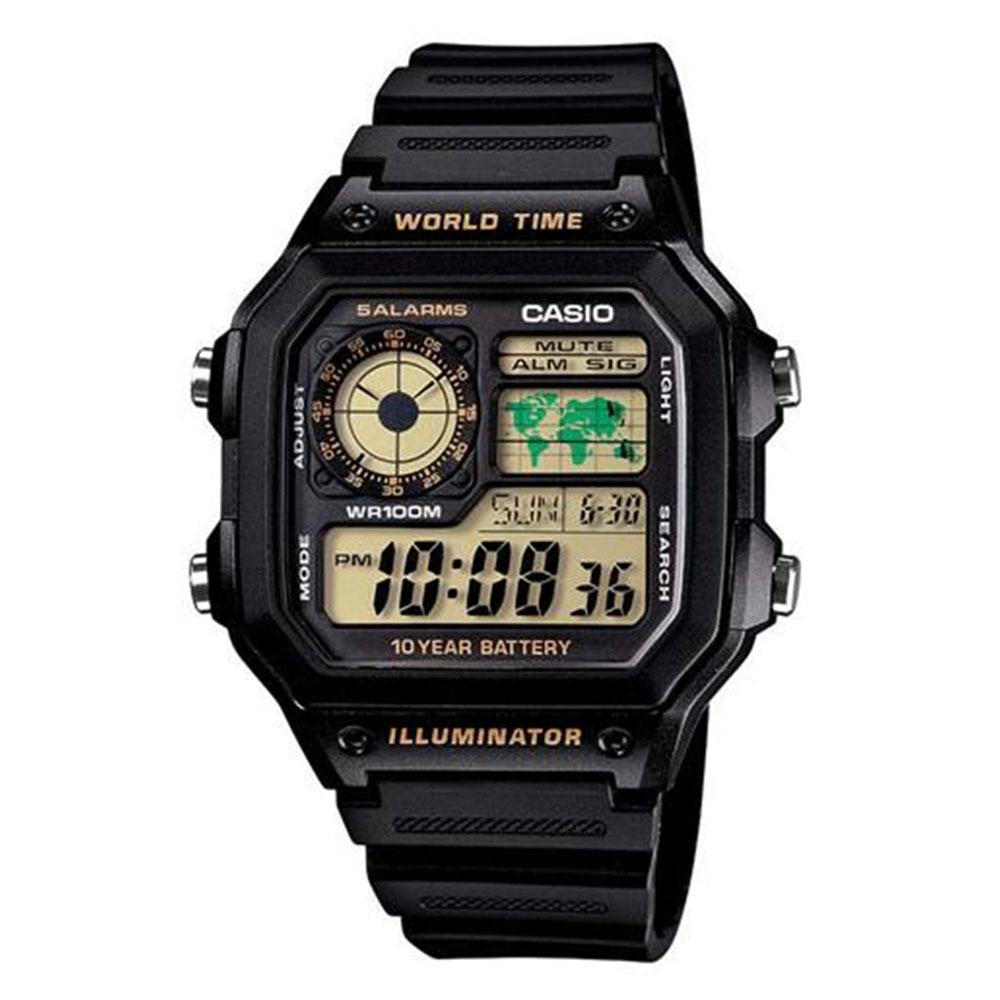 Relógio Masculino Digital Casio Multifunção AE1200WH1BVDF - Preto