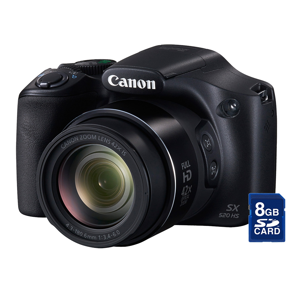 Câmera digital 16.0 MP, LCD 3.0´´, Zoom Óptico 42x e vídeo em Full HD  - Canon