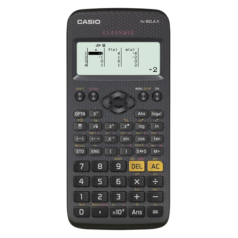 Calculadora Científica Casio Preta com 274 funções - FX-82LAX-BK