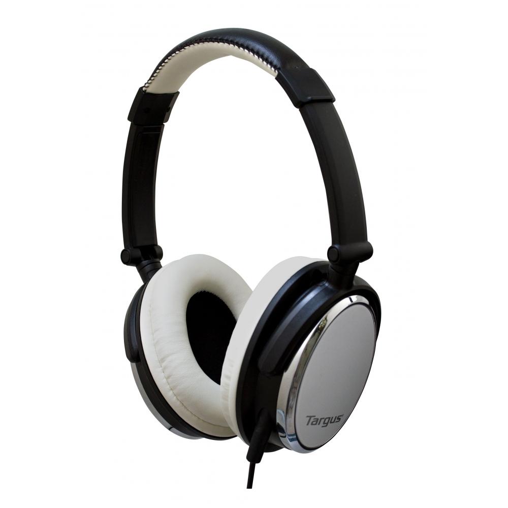 Fone de Ouvido Dobrável Branco, com microfone e controle de volume - TARGUS