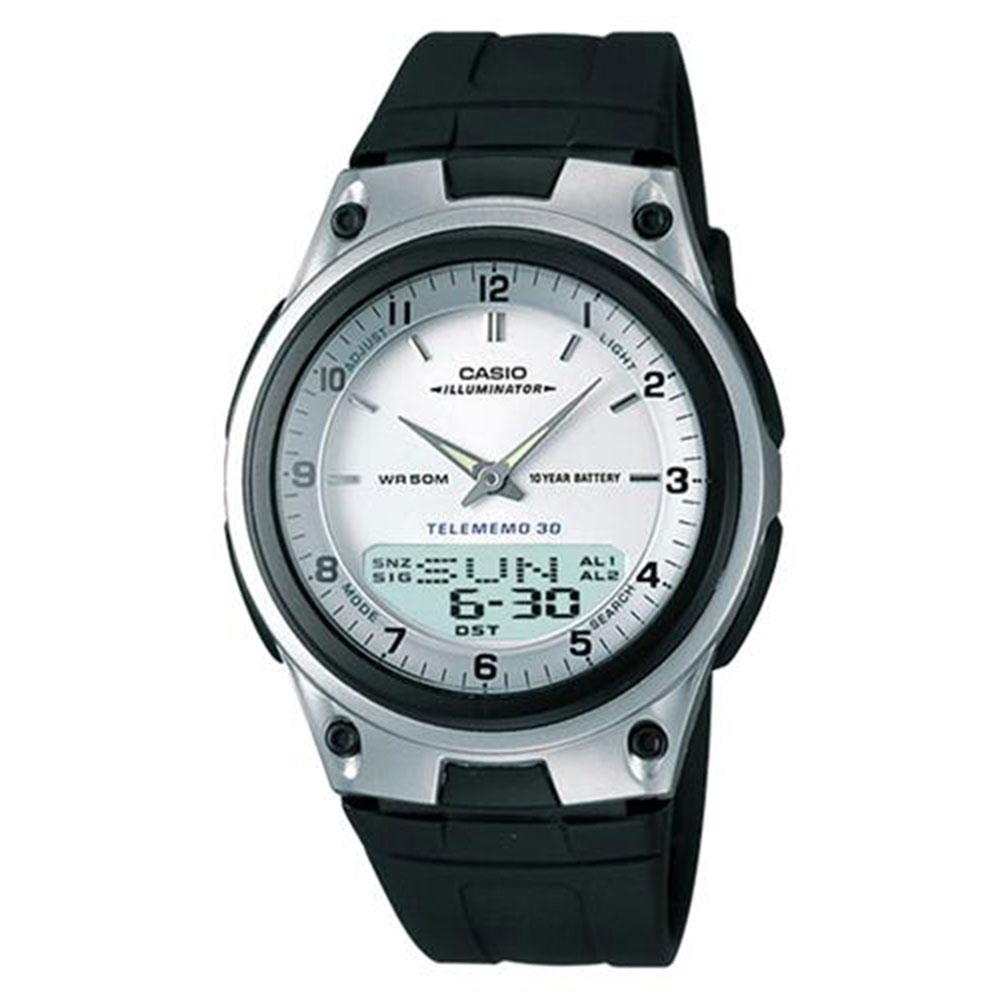 Relógio Masculino Anadigi Casio AW-80-7AVDF - Prata