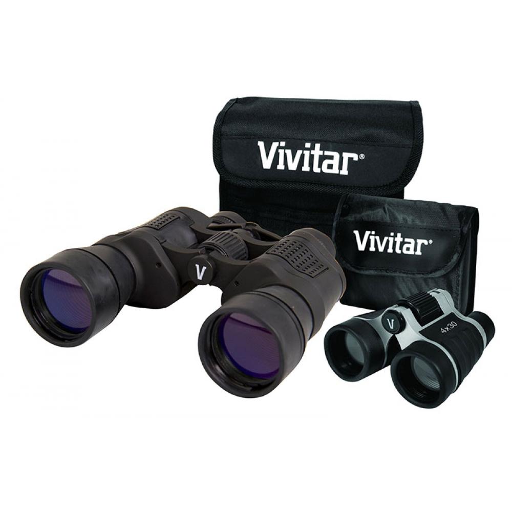 Par de binóculos: um com 8x50 e outro com 4x30 - VIVITAR