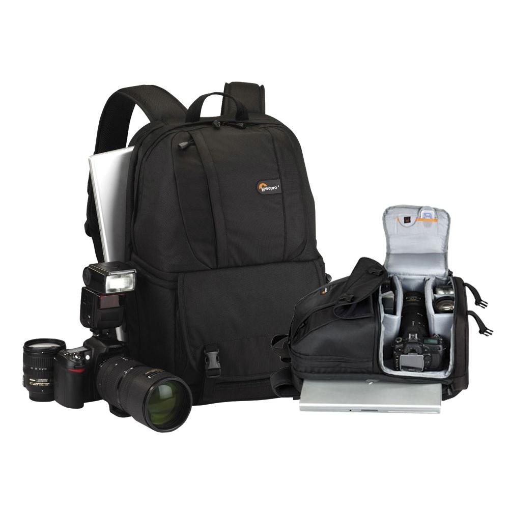 Mochila para câmera digital profissional, lente, notebook com tela de 15.4´´ -Fastpack 250 - LOWEPRO
