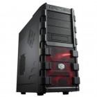 Gabinete Gamer Cooler Master HAF 912 Plus Mid Tower RC-912P-KKN1 - Preto e Vermelho, Sem Fonte