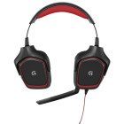 Headset Gamer Logitech G230 Preto e Vermelho - USB