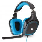 Headset Gamer Logitech G430 Preto e Azul - USB