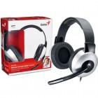Headset Genius Deluxe HS-05A Prata - Ajustável