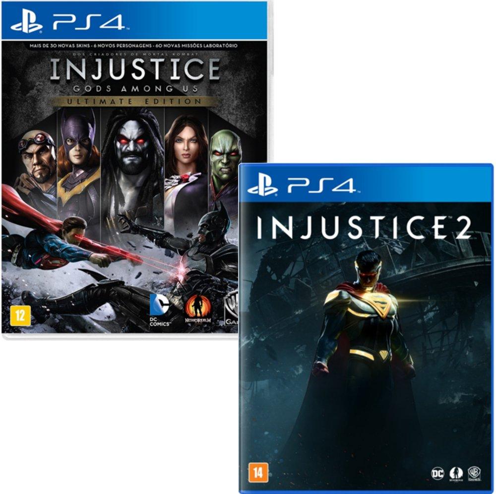 Jogo Injustice: Gods Among Us GOTY + Jogo Injustice 2 - PS4